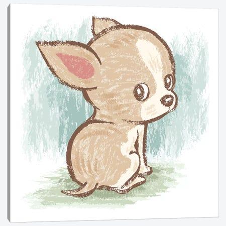 Chihuahua Look Back Canvas Print #TSG30} by Toru Sanogawa Canvas Artwork