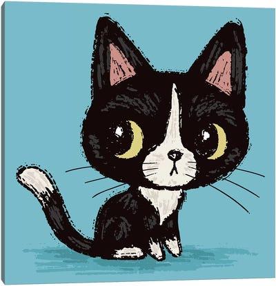 Cute Black Kitten Canvas Art Print
