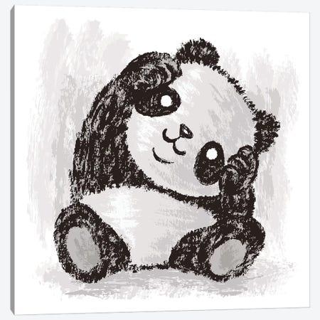 Cute Panda Canvas Print #TSG34} by Toru Sanogawa Canvas Art Print