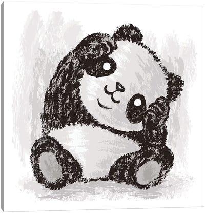 Cute Panda Canvas Art Print