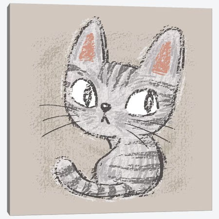 American Shorthair Kitten Canvas Print #TSG3} by Toru Sanogawa Art Print