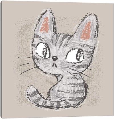 American Shorthair Kitten Canvas Art Print