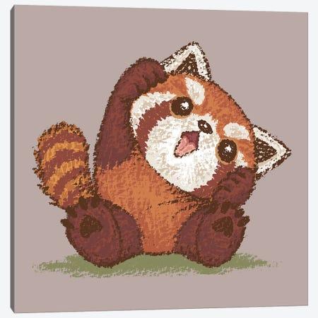 Cute Red Panda Canvas Print #TSG45} by Toru Sanogawa Canvas Wall Art