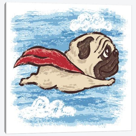 Flying Pug Canvas Print #TSG53} by Toru Sanogawa Canvas Wall Art