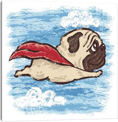 Flying Pug Canvas Art Print