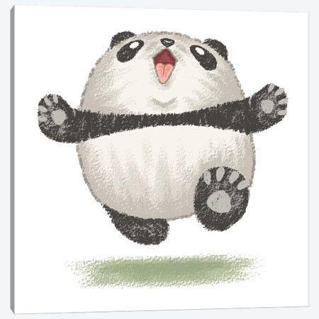 Happy Panda Canvas Print #TSG56} by Toru Sanogawa Canvas Print