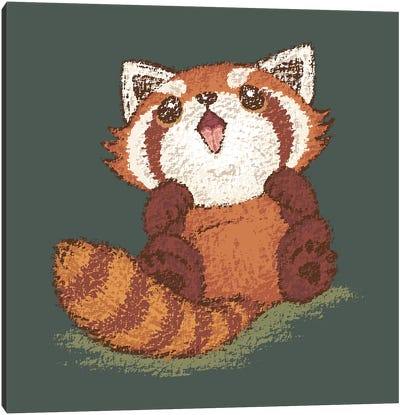 Baby Red Panda Canvas Art Print