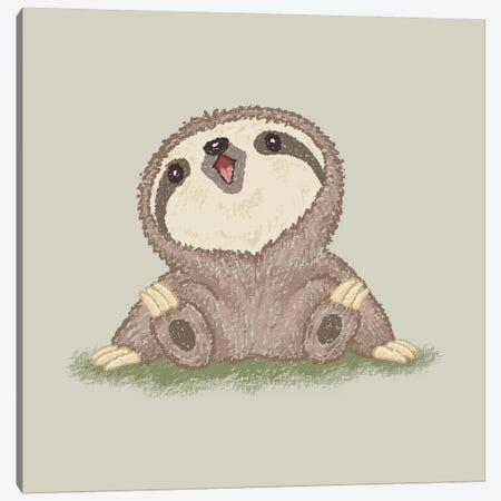 Happy Sloth Canvas Print #TSG62} by Toru Sanogawa Canvas Print