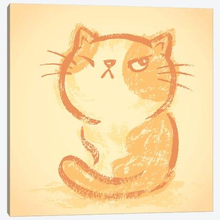 Impudent Cat Bad Mood Canvas Print #TSG67} by Toru Sanogawa Canvas Art