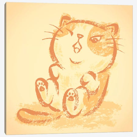 Impudent Cat Frolics Canvas Print #TSG69} by Toru Sanogawa Canvas Art Print