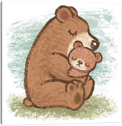 Bear Family Canvas Art Print
