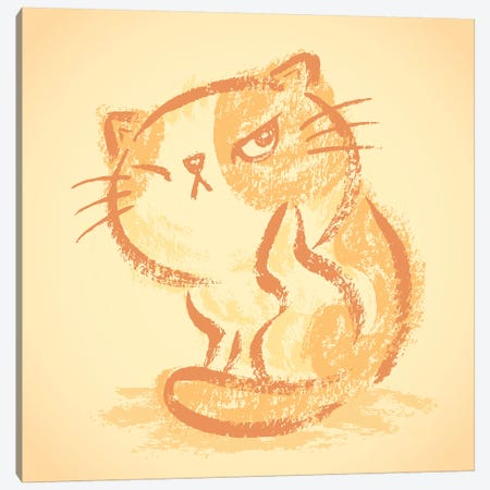 Impudent Cat Itchy Canvas Print #TSG71} by Toru Sanogawa Canvas Wall Art