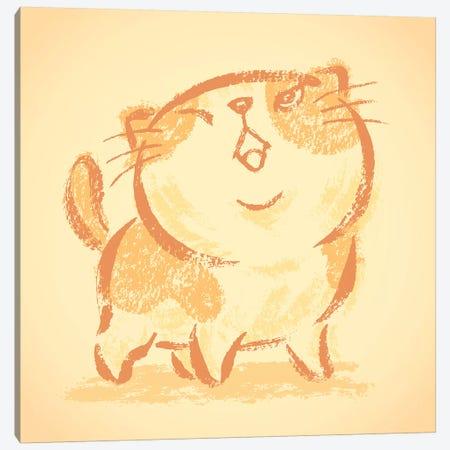 Impudent Cat Looks Up Canvas Print #TSG73} by Toru Sanogawa Canvas Art