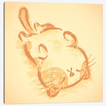 Impudent Cat Sleep On One's Back Canvas Print #TSG74} by Toru Sanogawa Art Print