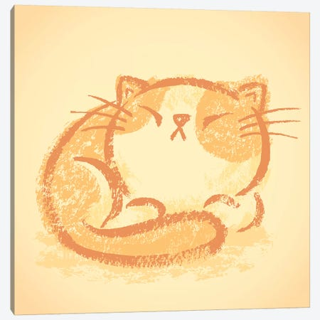Impudent Cat Takes A Nap Canvas Print #TSG77} by Toru Sanogawa Canvas Print