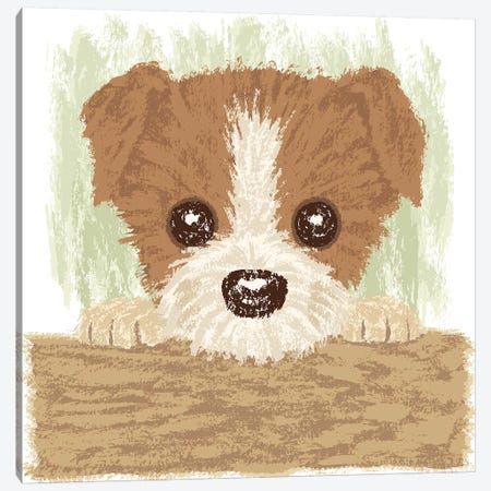 Jack Russel Terrier Puppy Canvas Print #TSG78} by Toru Sanogawa Canvas Wall Art