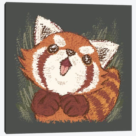 Joy Of Red Panda Canvas Print #TSG79} by Toru Sanogawa Canvas Artwork