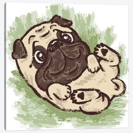 Lovely Pug Canvas Print #TSG80} by Toru Sanogawa Canvas Print