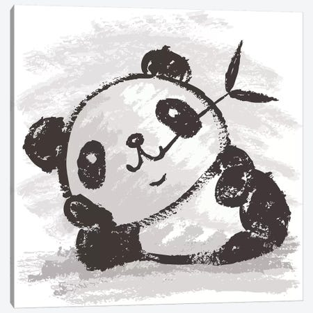 Panda That Is Relaxing Canvas Print #TSG83} by Toru Sanogawa Canvas Art Print