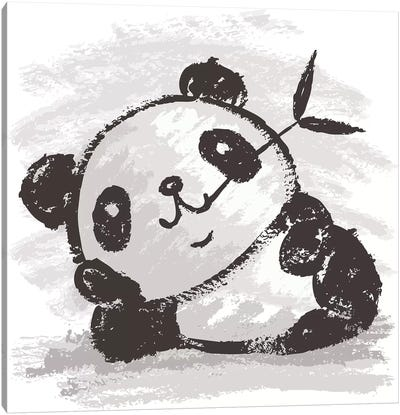 Panda That Is Relaxing Canvas Art Print