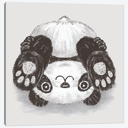 Panda Upside-Down Canvas Print #TSG84} by Toru Sanogawa Canvas Art