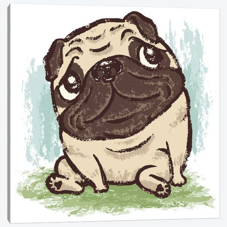 Pug That Relaxes Canvas Print #TSG94} by Toru Sanogawa Canvas Art Print
