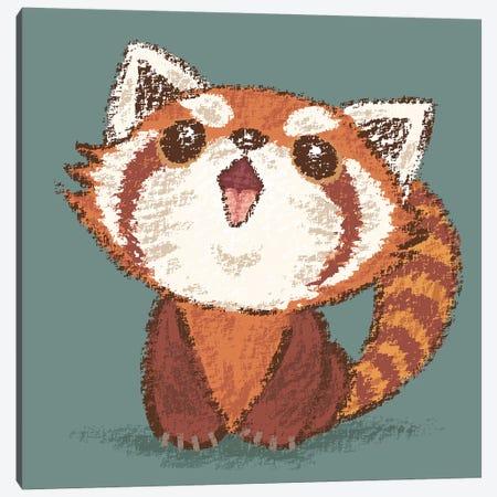 Red Panda Happy Canvas Print #TSG97} by Toru Sanogawa Canvas Art Print