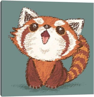 Red Panda Happy Canvas Art Print