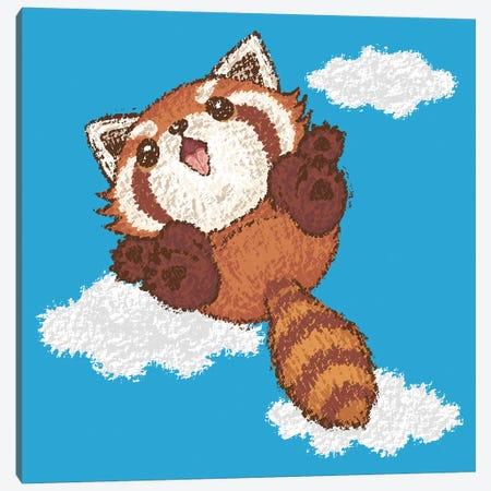 Red Panda Jump Canvas Print #TSG98} by Toru Sanogawa Canvas Art