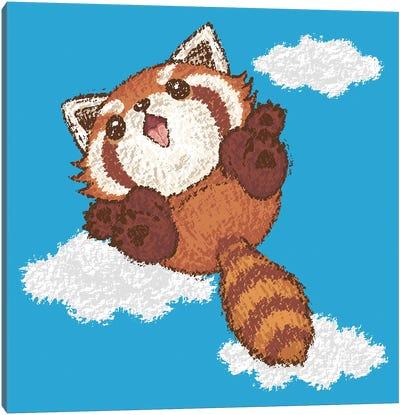 Red Panda Jump Canvas Art Print