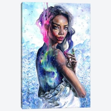Northern Lights Canvas Print #TSH11} by Tanya Shatseva Canvas Art Print