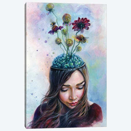 Pollination Canvas Print #TSH14} by Tanya Shatseva Canvas Wall Art