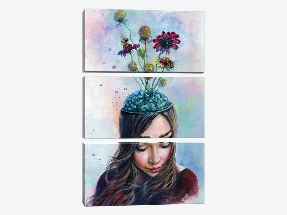 Pollination by Tanya Shatseva 3-piece Canvas Artwork