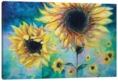 Supermassive Sunflowers Canvas Art Print