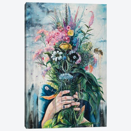 The Last Flowers Canvas Print #TSH17} by Tanya Shatseva Canvas Artwork