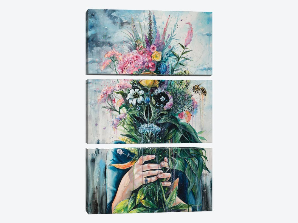 The Last Flowers by Tanya Shatseva 3-piece Canvas Art Print