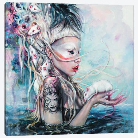 Yolandi The Rat Mistress Canvas Print #TSH20} by Tanya Shatseva Canvas Art