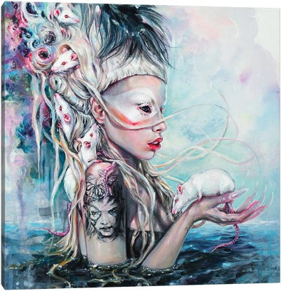 Yolandi The Rat Mistress Canvas Art Print