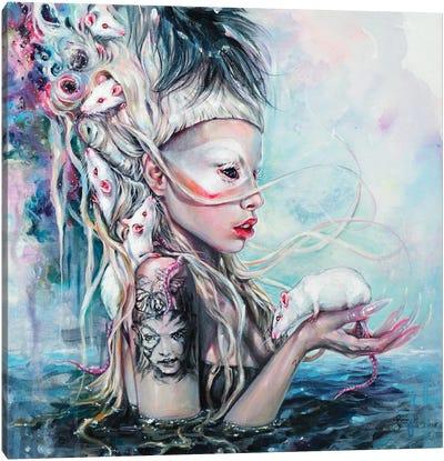 Yolandi The Rat Mistress Canvas Art Print