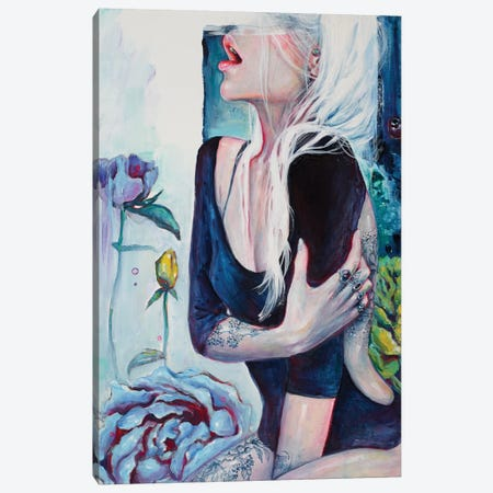 Her Garden Canvas Print #TSH21} by Tanya Shatseva Canvas Artwork