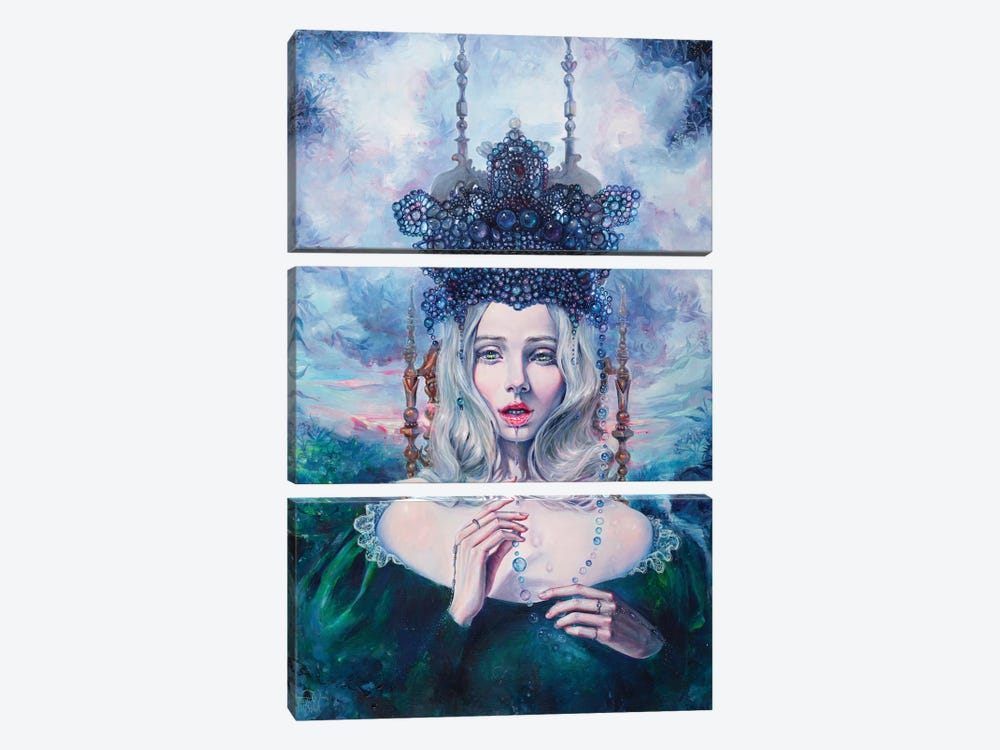 Self-Crowned by Tanya Shatseva 3-piece Canvas Print