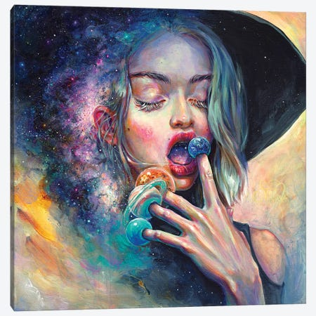 Black Hole In The Milky Way Canvas Print #TSH24} by Tanya Shatseva Art Print
