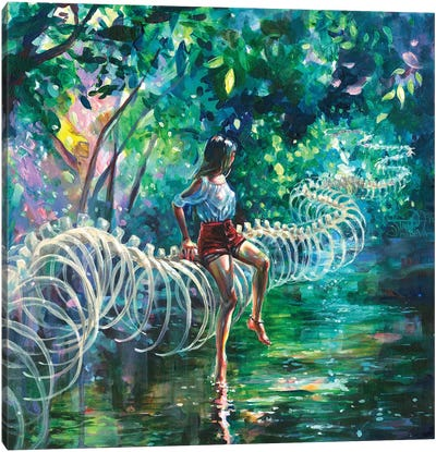 Dopamine Jungle Canvas Art Print