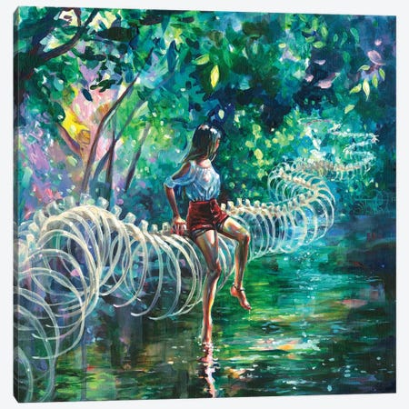 Dopamine Jungle Canvas Print #TSH26} by Tanya Shatseva Canvas Print