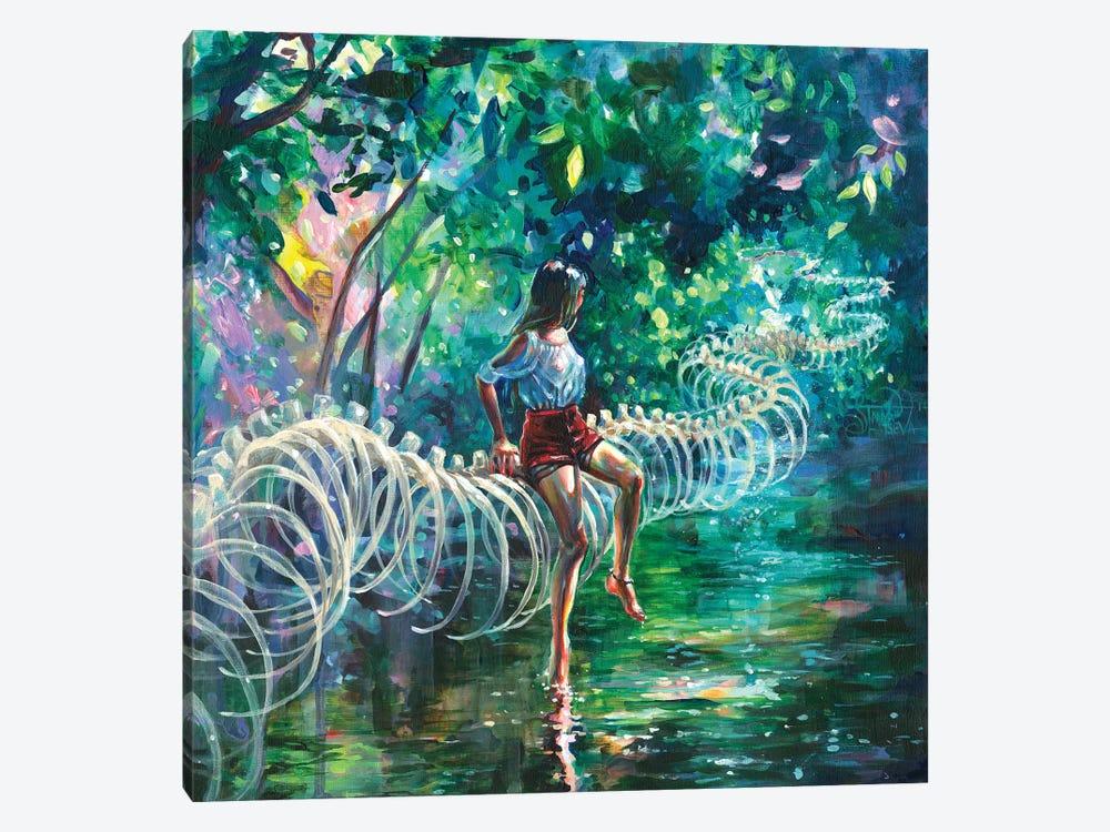 Dopamine Jungle by Tanya Shatseva 1-piece Canvas Print