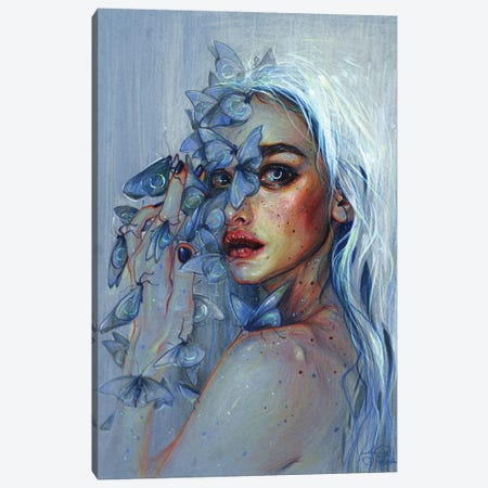 Lunar Pollen Canvas Print #TSH29} by Tanya Shatseva Canvas Art