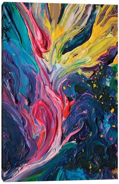 Bird Flower Canvas Art Print