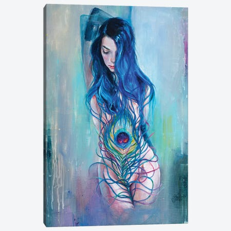 Peafowl Flow Canvas Print #TSH30} by Tanya Shatseva Canvas Print