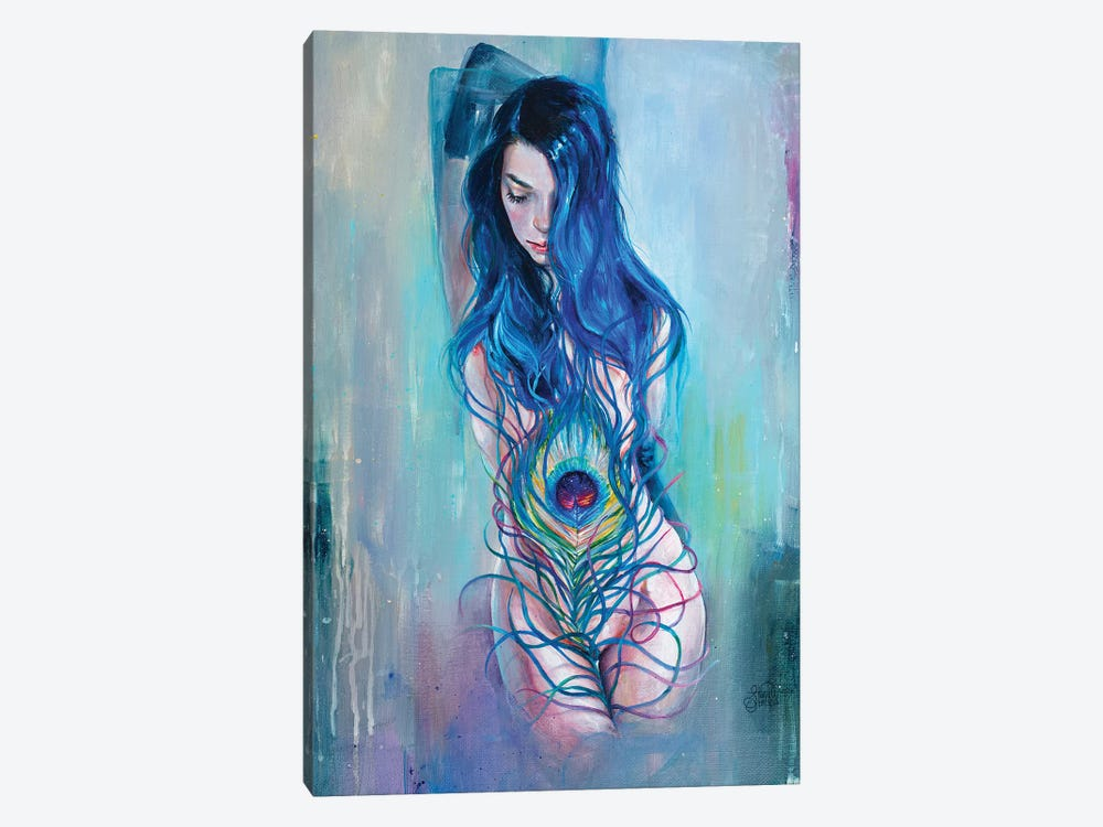 Peafowl Flow by Tanya Shatseva 1-piece Canvas Wall Art