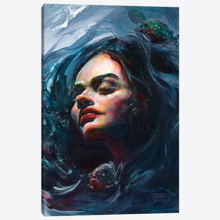 Still Water Canvas Print #TSH34} by Tanya Shatseva Canvas Wall Art